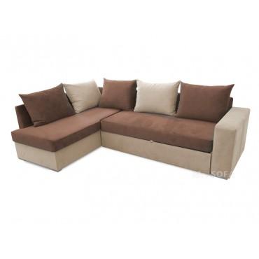 duży narożnik z poduszkami do salonu