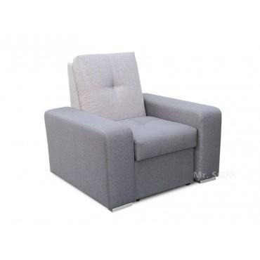 nowoczesny fotel z ozdobnym pikiem