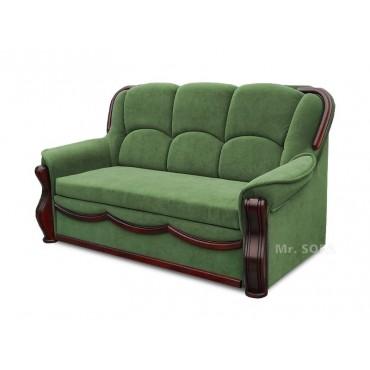 bogato zdobiona stylowa sofa z funkcją spania