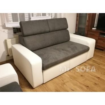 Wysuwana sofa z zagłówkami