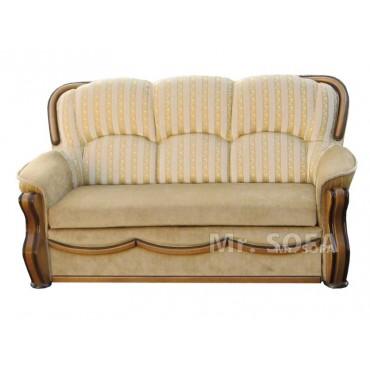Stylowa sofa w złote pasy z...