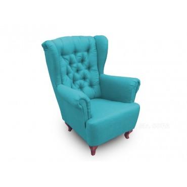 Modny fotel Uszak Chesterfield