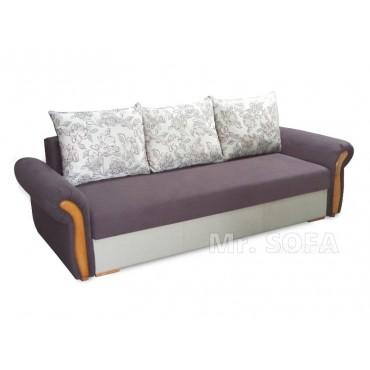 Stylowa kanapa z ozdobnym...
