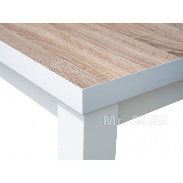 Biały stół z blatem z płyty...