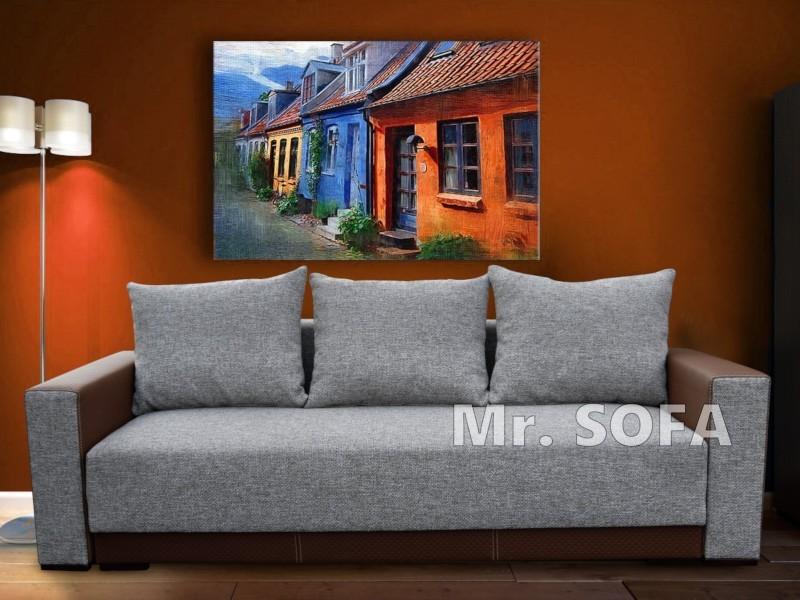 minimalistyczna kanapa w prostym stylu