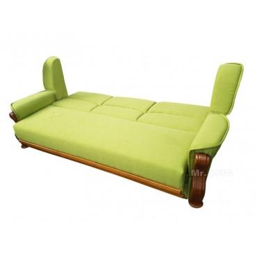 zielona kanapa do spania
