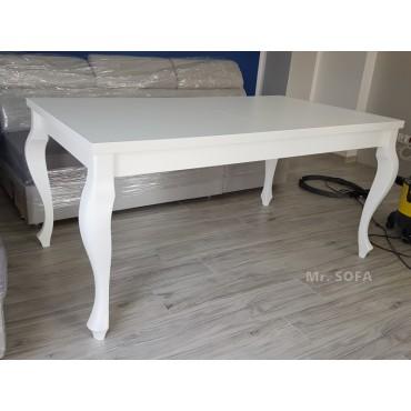 Biały stół z nogami giętymi...