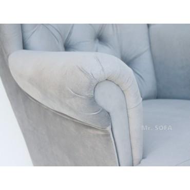 Pikowany fotel Uszak...