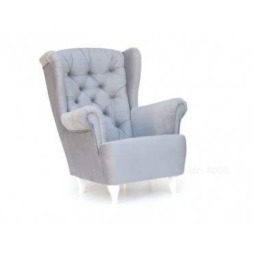 pikowany fotel uszak