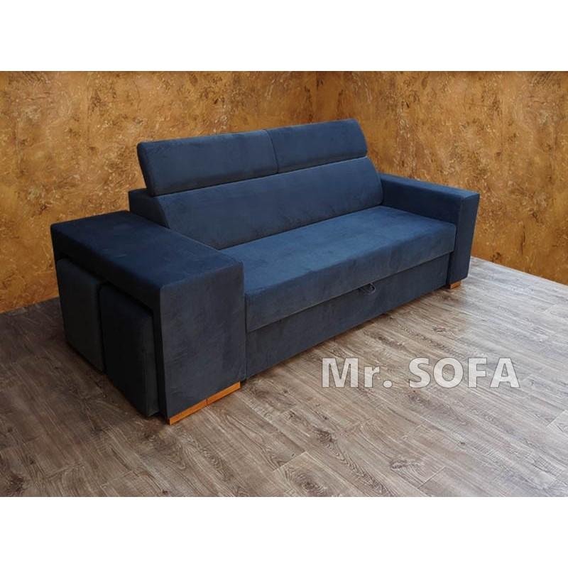 sofa z zagłówkami regulowanymi