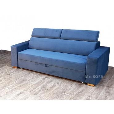 dwuosobowa sofa z zagłówkami
