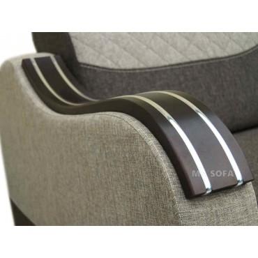 stylowa kanapa z drewnianymi bokami