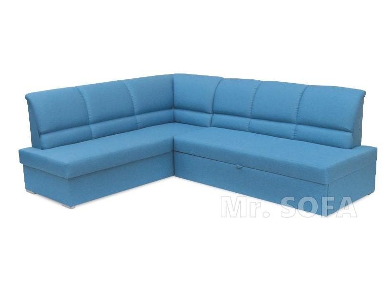 duży niebieski narożnik do salonu z funkcją spania