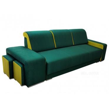 Nowoczesna kanapa z pufami...