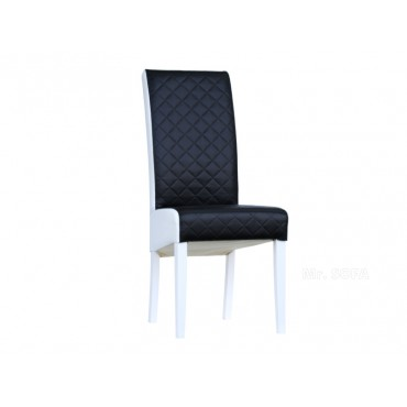 czarno-białe krzesło z ekoskóry