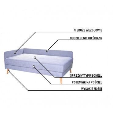 łóżko jednoosobowe z miejscem na odkurzacz Roomba Xiaomi