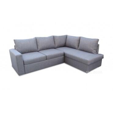 szary narożnik do salonu z poduszkami