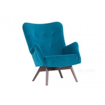 Pikowany fotel Uszak na...